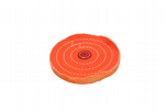 "Buffing Wheel, 6"" x 1/2"", Triple Stitched, Orange. X8135"